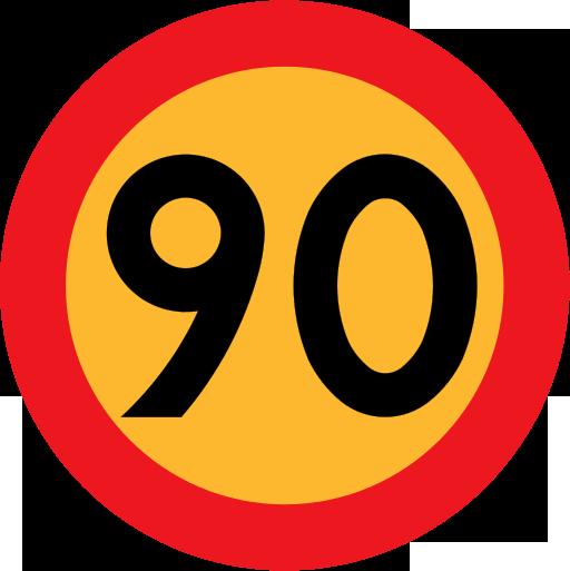 Hastighetsbegränsning 90