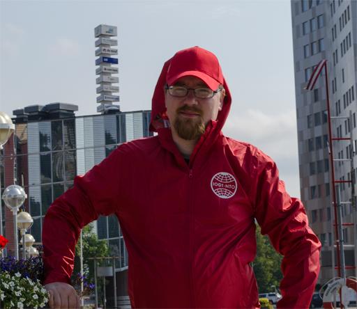Börje, arbetsledare för renhållningen i inre hamnen och tillsynen av husbils- och husvagnsparkeringen vid Fjällräven Center. Foto © Anders Byström på http://smartfix.se